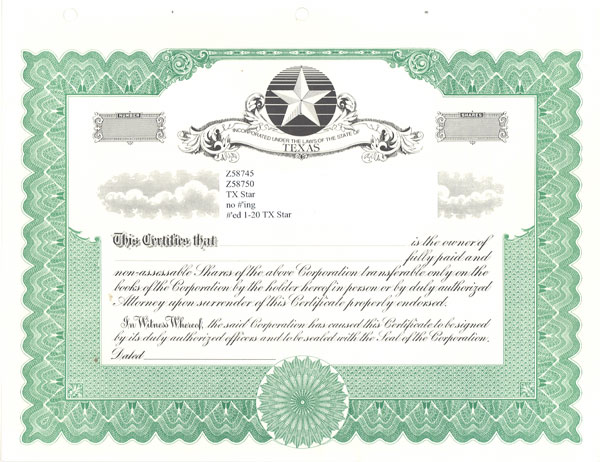 Blank Stock Certificates - Free Printable Documents