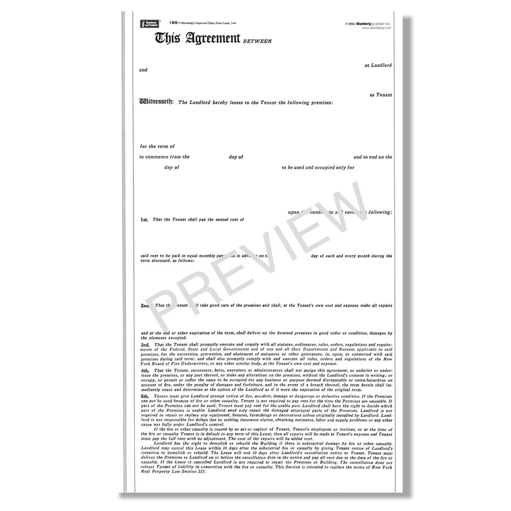 Blumberg New York Commercial & Office Lease Forms