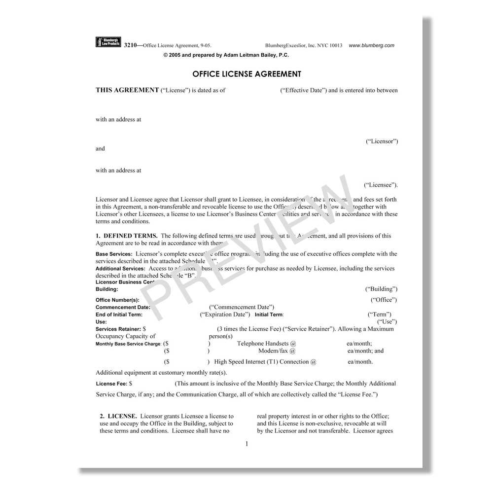 Blumberg New York Commercial And Office Lease Forms
