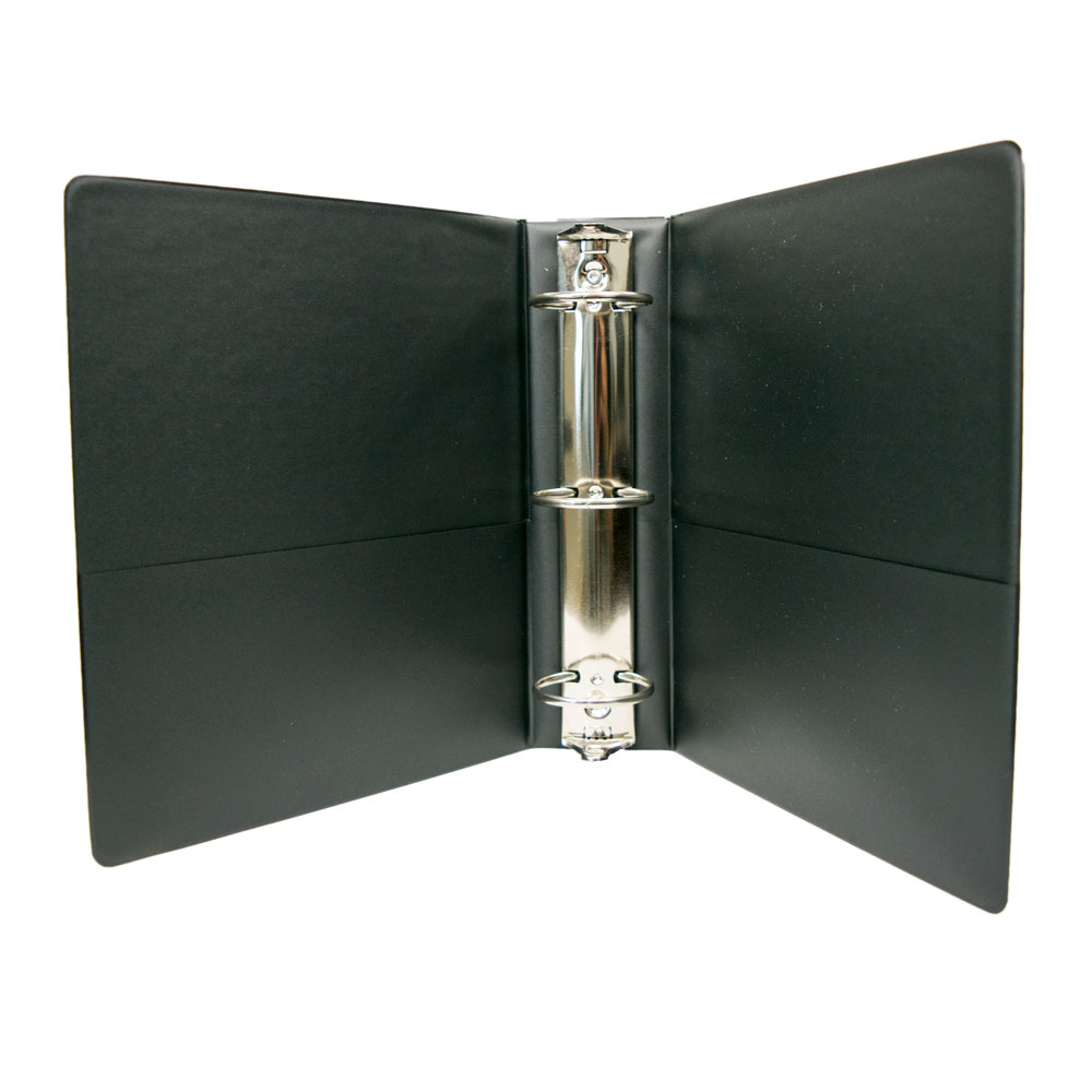 "9.5"" X 6"" Black Cover Ring Binders"