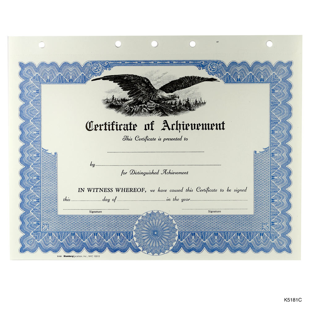 Orange Printable Blank Certificate Of Appreciation  Blank Achievement Certificates