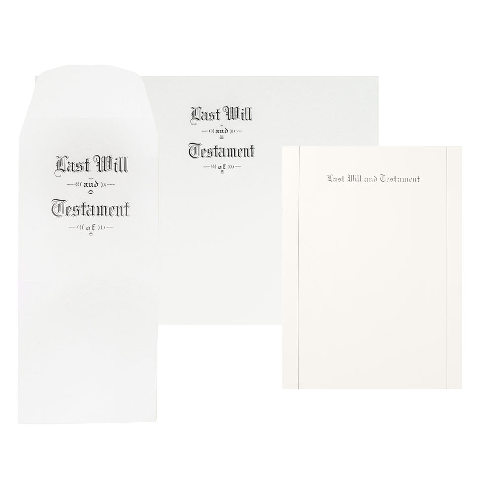 Last Will and Testament Stationery Kits