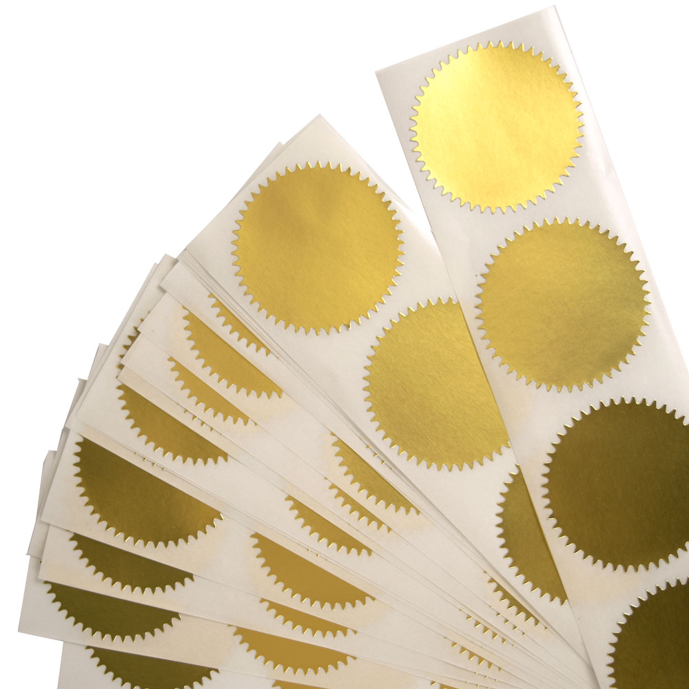 Gold and Red Foil Seals for Notary or Book Embosser