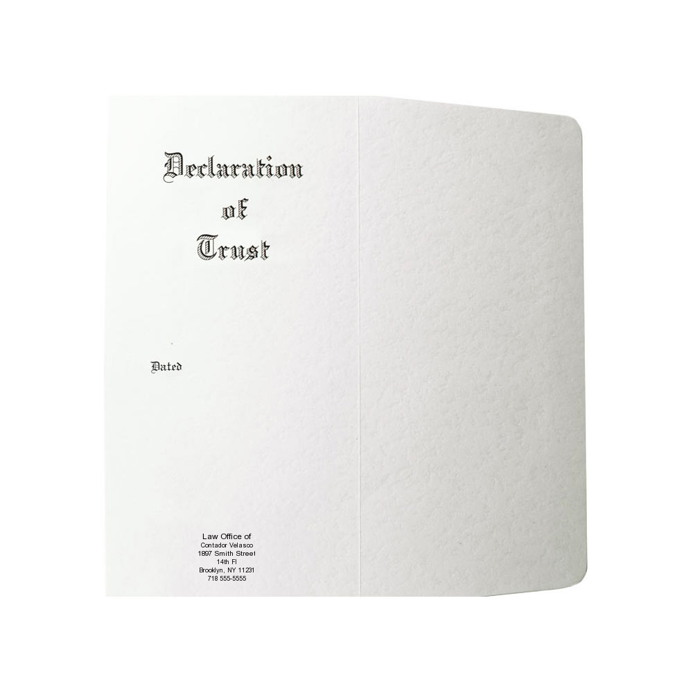 Declaration of Trust Envelopes for Trust Documents