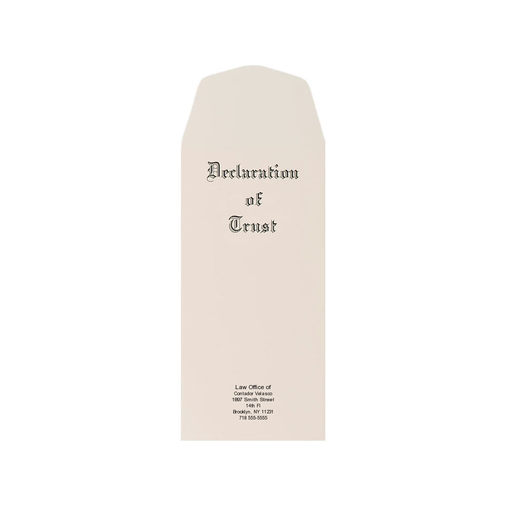 Declaration of Trust Covers Envelopes