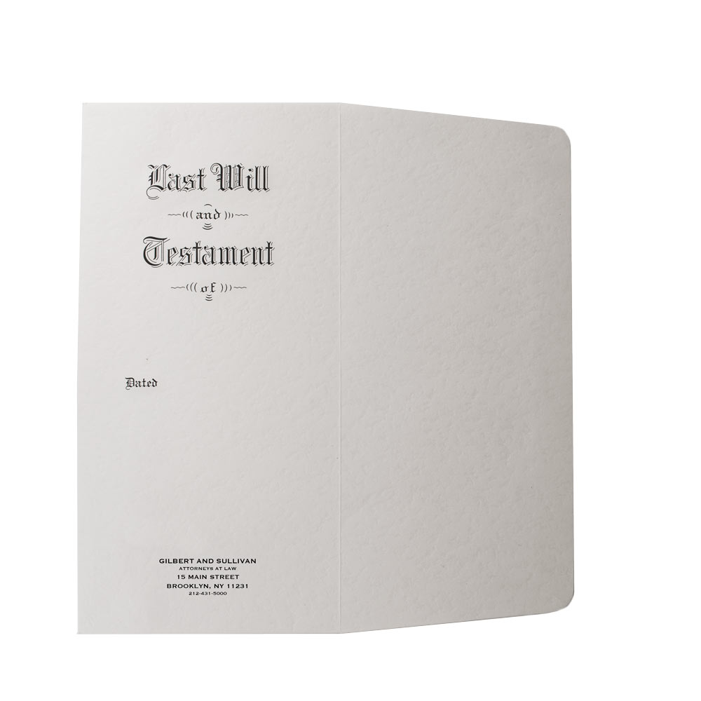 Pebble Finish Last Will and Testament Envelope