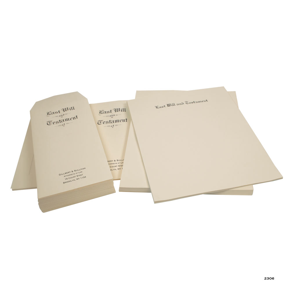 Will Stationery Kit Archival Quality Paper