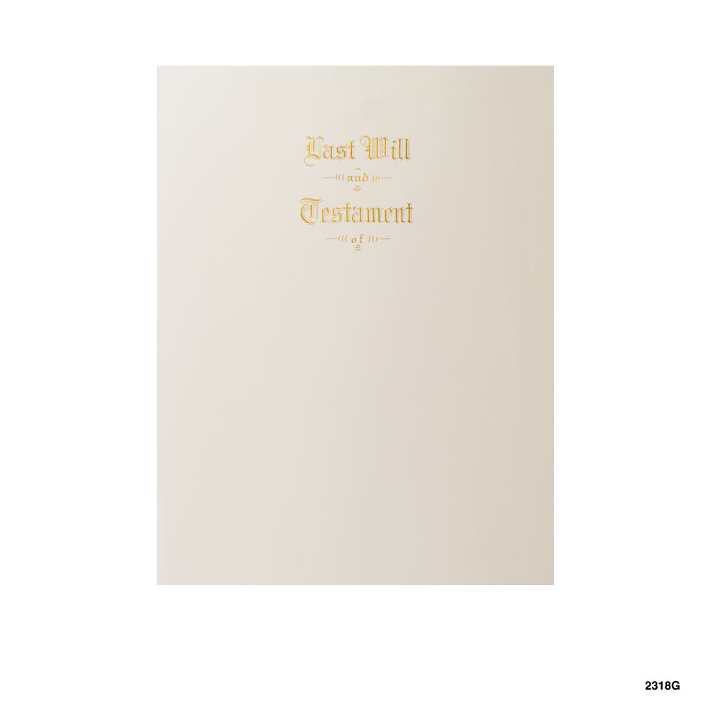 Will Stationery Engraved in Gold Ink