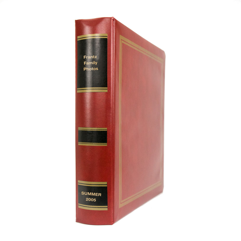 3-Ring Binders with Gold Lettering on Spine
