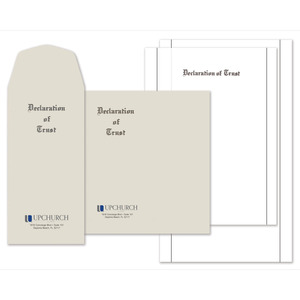 Declaration of Trust Stationery Kit