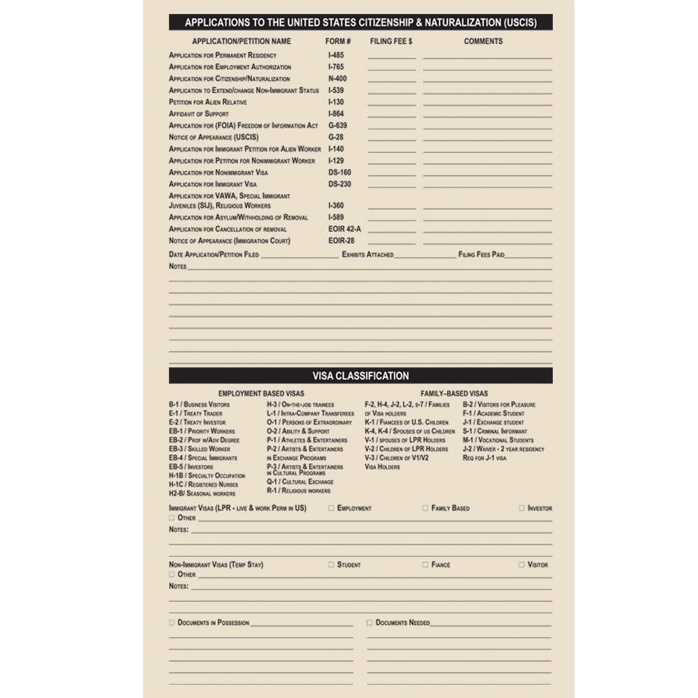 Organize immigration matters with immigration case file folders immigration case file folder falaconquin