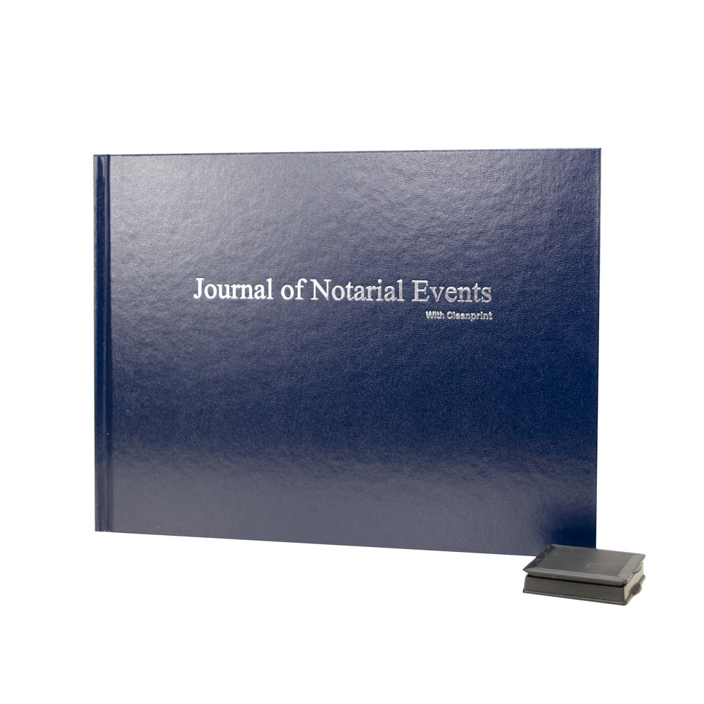 Hardcover Notary Journal with Clearprint Inkless