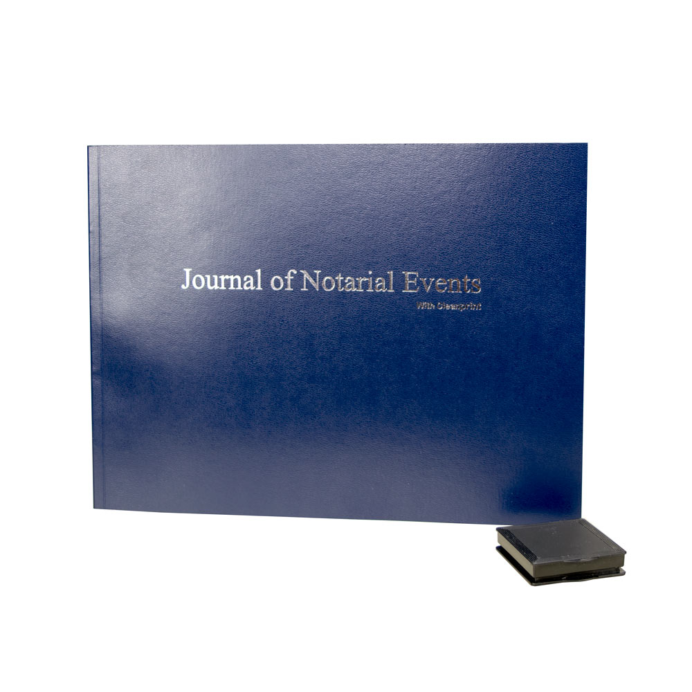 Softcover Notary Journal with Clearprint Inkless