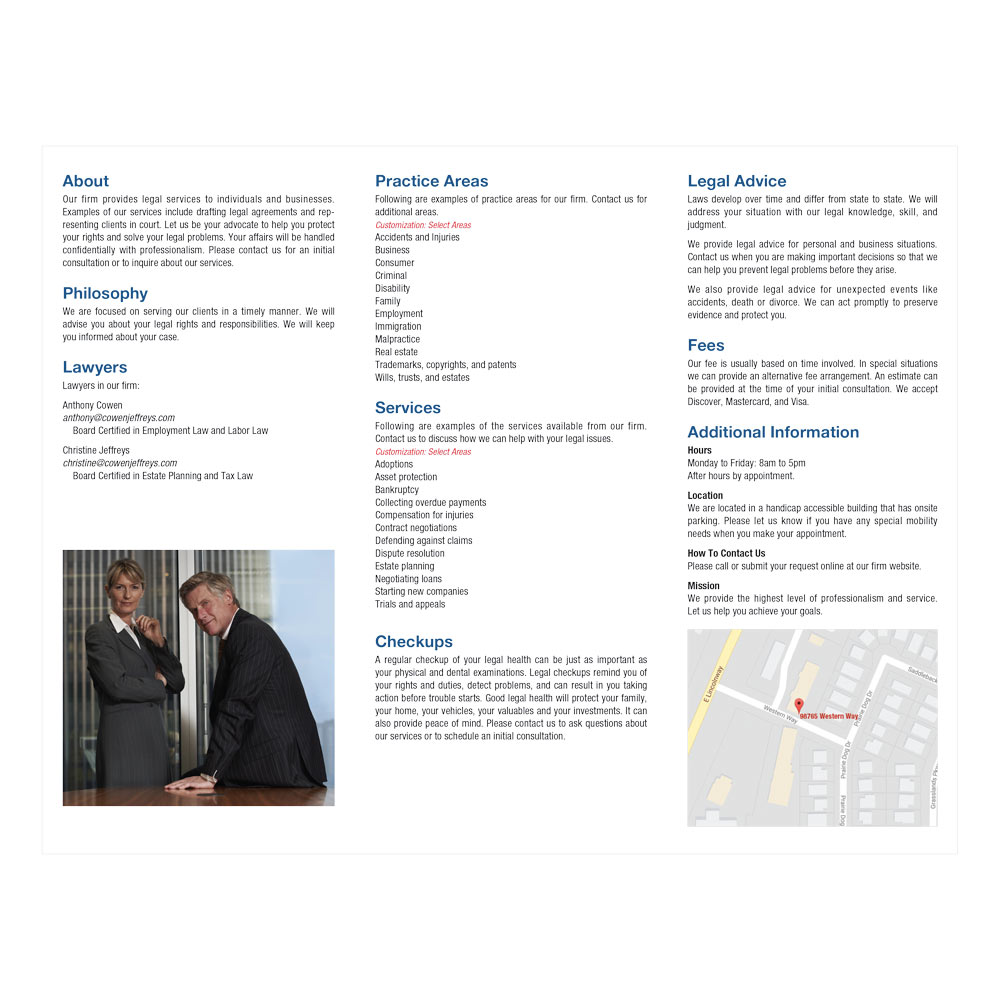 Law Firm Brochure Printing