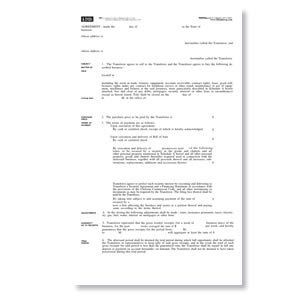 Blank Form for Sale of a Business