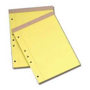 Drilled Canary Legal Pads