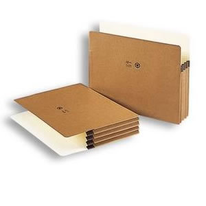Legal Size Recycled Redrope File Pockets