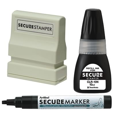 Xstamper Secure Privacy Stamp and Marker