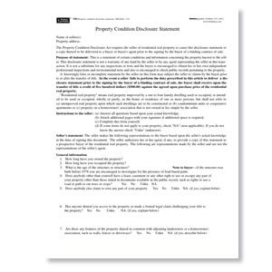 New York Residential Property Condition Disclosure Statement Forms