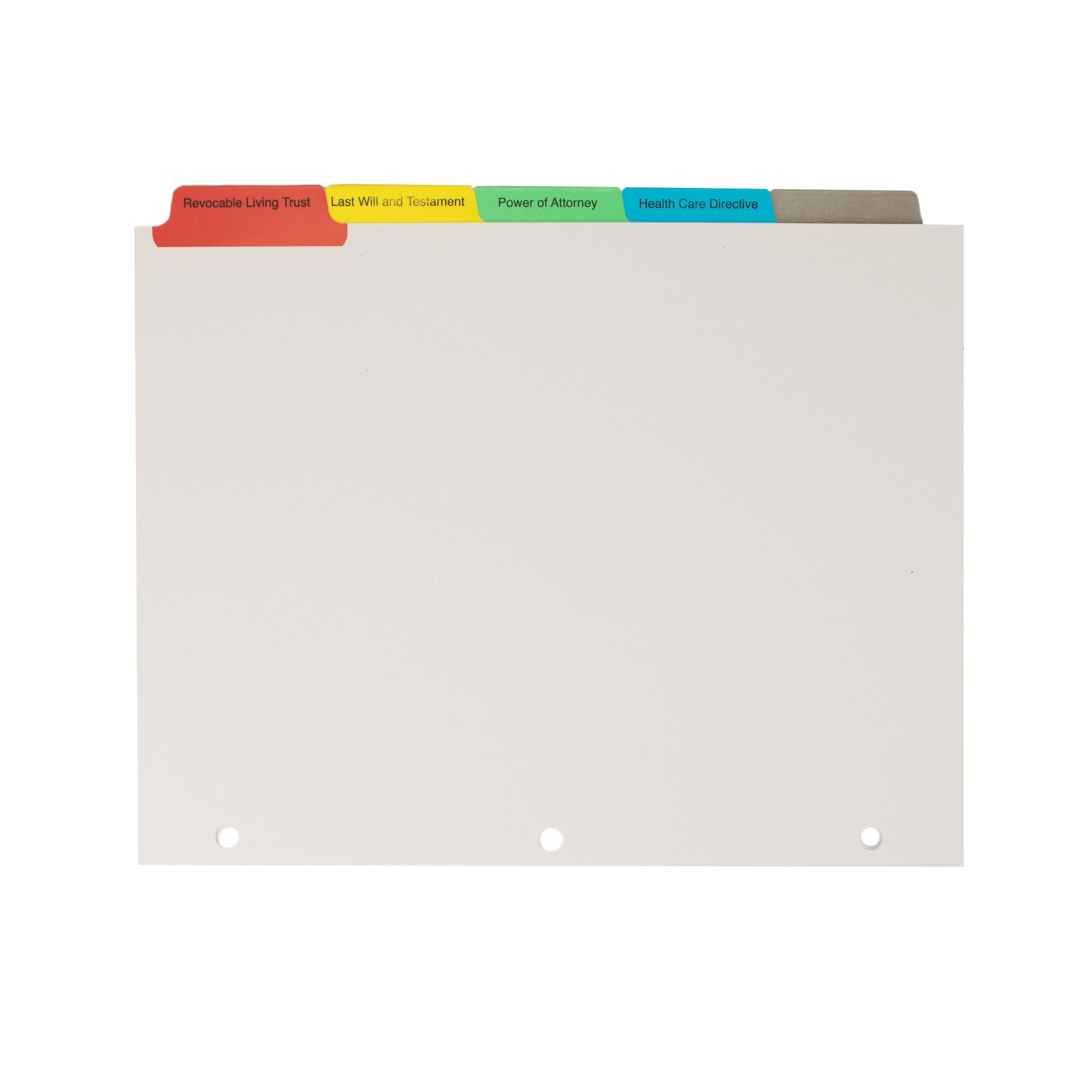 Colored Semi Custom Index Tabs