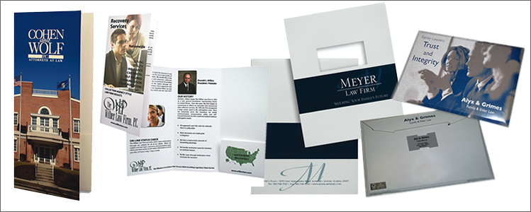 Custom Law Firm Folders, Brochures and Envelopes
