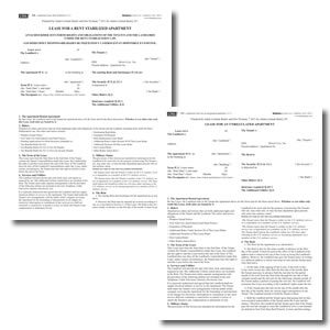 New York Apartment Lease Forms-Stabilized and Unregulated Apartments