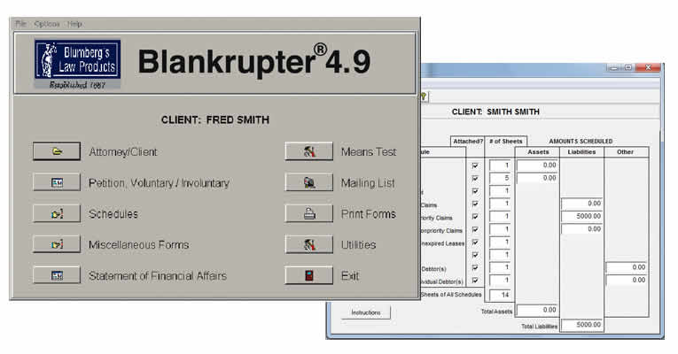 Bankruptcy Software