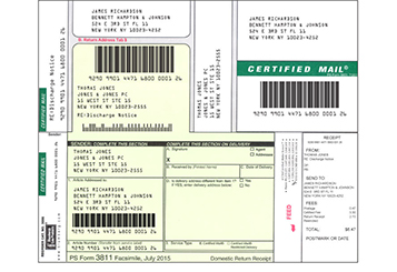 Certified Mail Labels