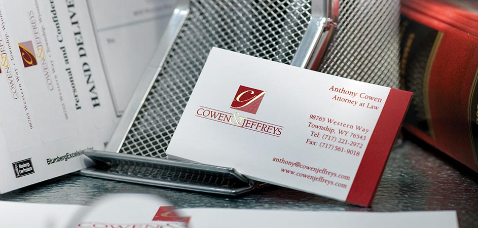 Engraved, Thermographed, Lithographed and Digital Business Cards