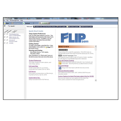 Flip Intake System And Light Case Management For Law Offices